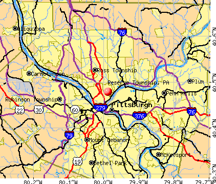 Reserve Township, PA map