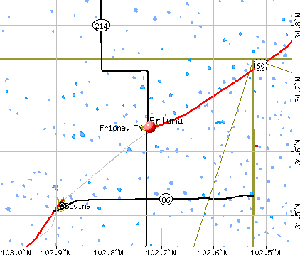 Friona, TX map