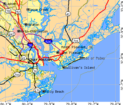 Mount Pleasant, SC map
