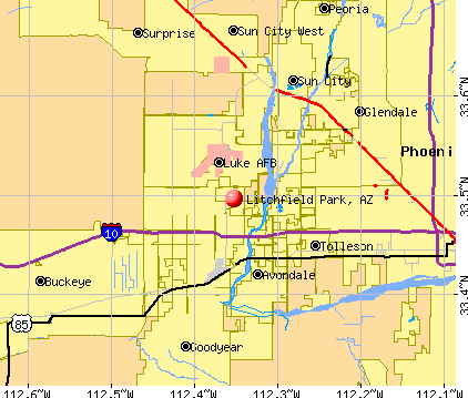 Litchfield Park, AZ map