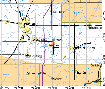 Upland, IN map