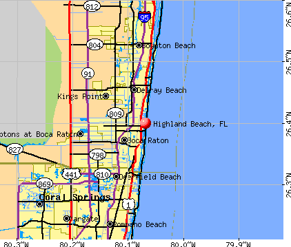 Highland Beach, FL map