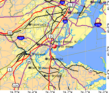 Perth Amboy, NJ map