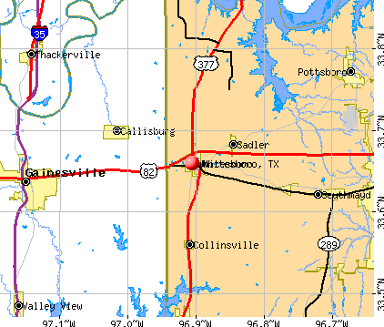 Whitesboro, TX map