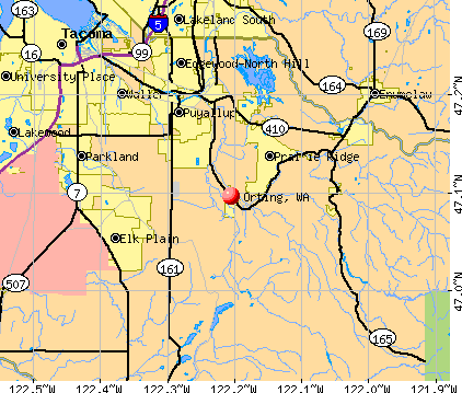 Orting, WA map