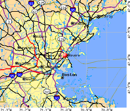 Revere, MA map