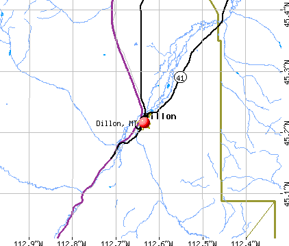 Dillon, MT map