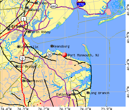 Port Monmouth, NJ map