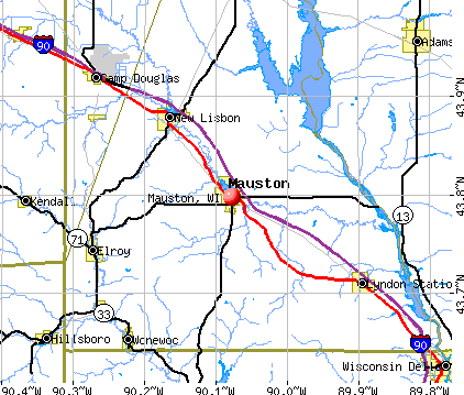 Mauston, WI map
