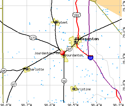Jourdanton, TX map