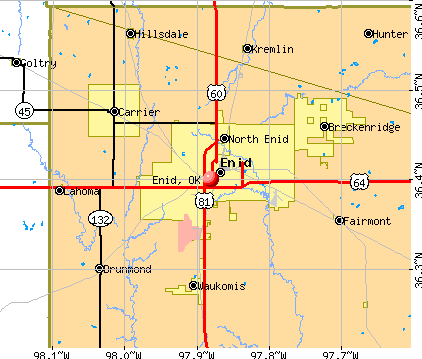 Enid, OK map