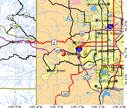 Genesee, CO map