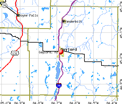 Gaylord, MI map