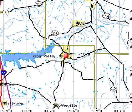 Water Valley, MS map