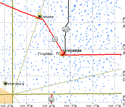 Floydada, TX map