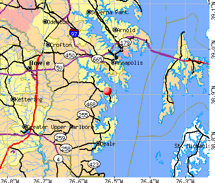 Selby-on-the-Bay, MD map