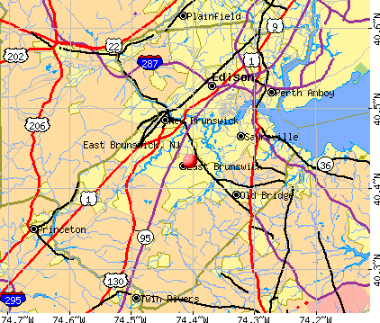 East Brunswick, NJ map