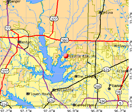 Map Of Little Elm Texas