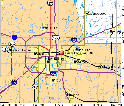 East Lansing, MI map