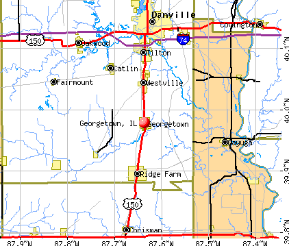 Georgetown, IL map