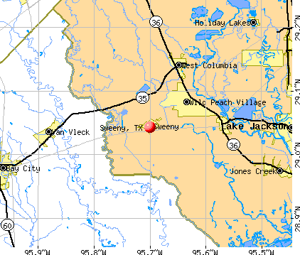 Sweeny, TX map