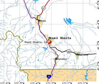 Mount Shasta, CA map