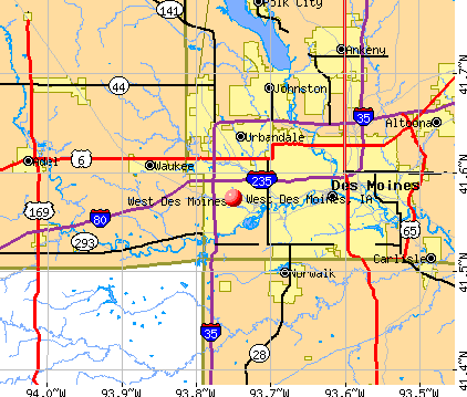 West Des Moines, IA map