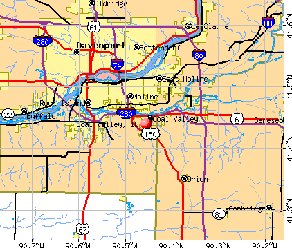 Coal Valley, IL map