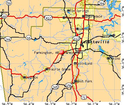 Farmington, AR map