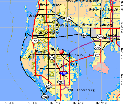 Feather Sound, FL map