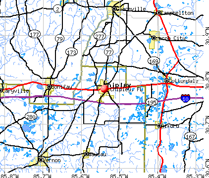 Chipley, FL map
