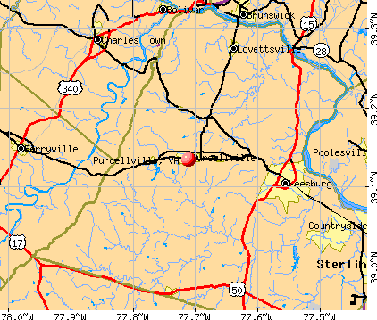Purcellville, VA map