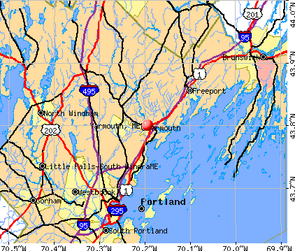 Yarmouth, ME map