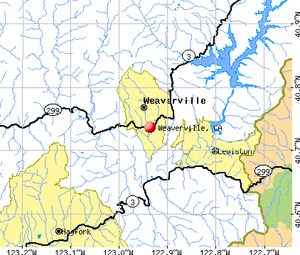 Weaverville, CA map