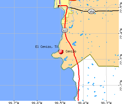 El Cenizo, TX map
