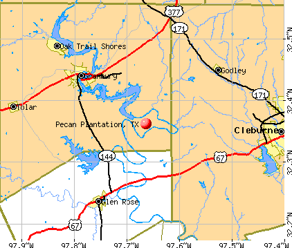 Pecan Plantation, TX map