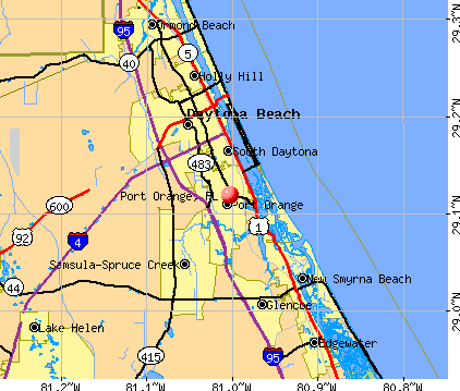 Port Orange, FL map