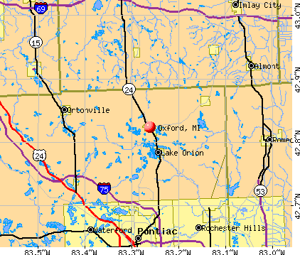 Oxford, MI map