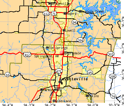 Springdale, AR map
