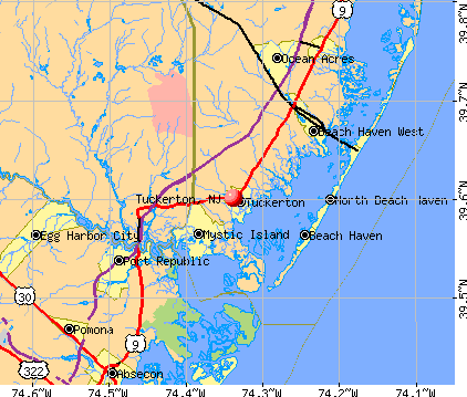 Tuckerton, NJ map