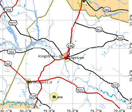 Kingstree, SC map