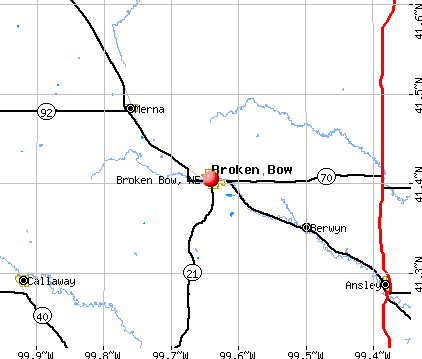 Broken Bow, NE map