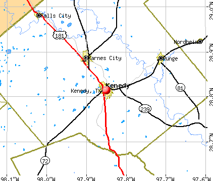 Kenedy, TX map
