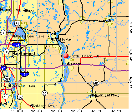 North Hudson, WI map