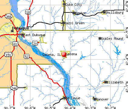 Galena, IL map