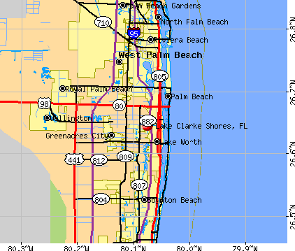 Lake Clarke Shores, FL map