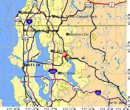 Redmond, WA map