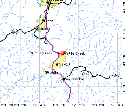 Myrtle Creek, OR map