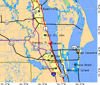 Sharpes, FL map