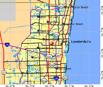 West Ken-Lark, FL map